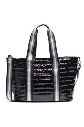Black Patent Wingman Bag by Think Royln