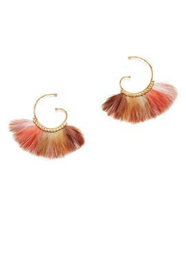 Bo Buzios Bis Plume Earrings by Gas Bijoux