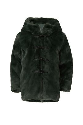 Kids Faux Fur Hooded Coat by Stella McCartney Kids
