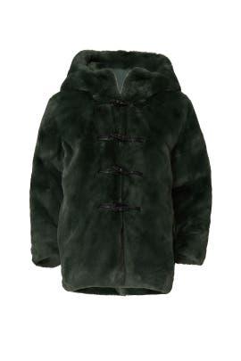 Kids Faux Fur Hooded Coat by Stella McCartney Kids