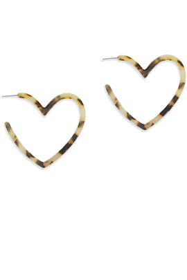 Resin Heart Hoops by Ettika