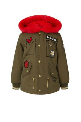 Kids Hooded Parka Jacket by Little Marc Jacobs