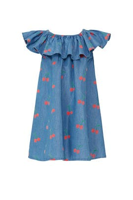 Kids Cherry Chambray Dress by Stella McCartney Kids