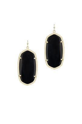 Black Danielle Earrings by Kendra Scott