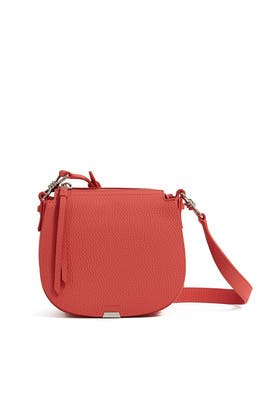 Coral Pink Captain Leather Lea Round Crossbody by AllSaints