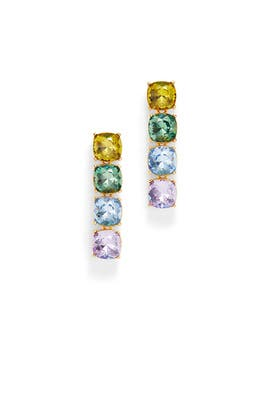 Pastel Crystal Drop Earrings by Kenneth Jay Lane
