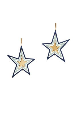 Spinning Star Earrings by Tory Burch Accessories