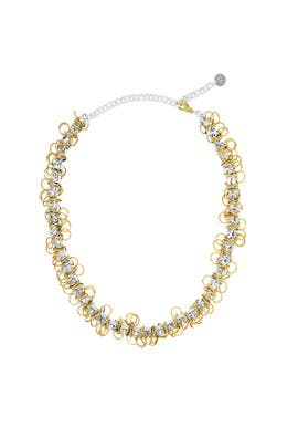 Gold Silver X Project Necklace by Moutton Collet