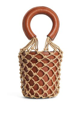 Brown Mini Moreau Bag by Staud Accessories