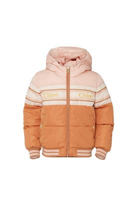 Kids Logo Puffer Jacket by Chloé Kids