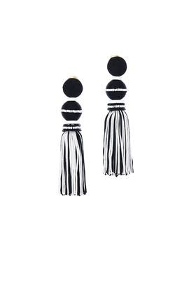Ball Two Tone Tassel Earrings by Oscar de la Renta