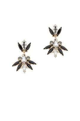 Fan Crystal Cluster Drop Earrings by Anton Heunis