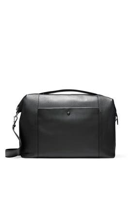 Black Grand Ambition Weekender Duffel Bag by Cole Haan Accessories