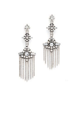 Silver Tassel Chandelier Earrings by Ettika