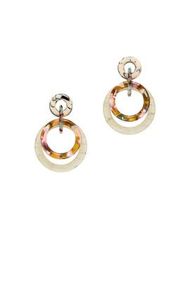 Double Ring Hoop Earrings by Lele Sadoughi