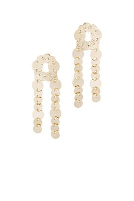 Pinned Paillette Earrings by Eddie Borgo