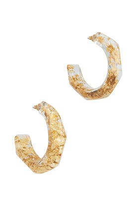 Gold Nugget Hoops by Oscar de la Renta