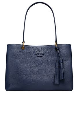 Navy McGraw Tote by Tory Burch Accessories