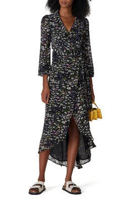 Floral Georgette Wrap Dress by GANNI
