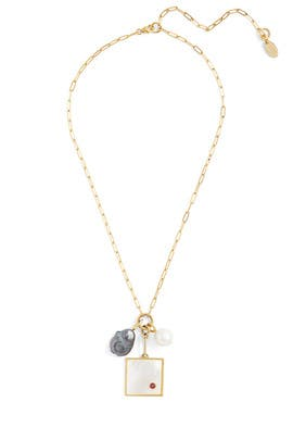 Pearl Domino Necklace by Lizzie Fortunato