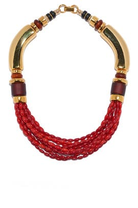 Coral Pamplona Necklace by Lizzie Fortunato
