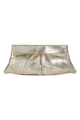 Gold Eve Clutch by Lauren Merkin