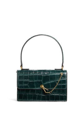Jackie Croc-Embossed Leather Bag by Staud Accessories