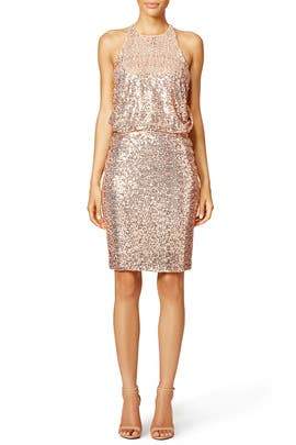 Blush Maria Dress by Badgley Mischka