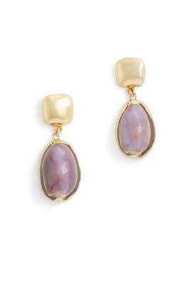 Pearl Shell Drop Earrings by Kenneth Jay Lane