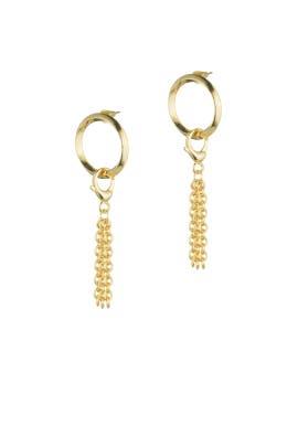 O-Ring Door Knocker Earrings by Eddie Borgo