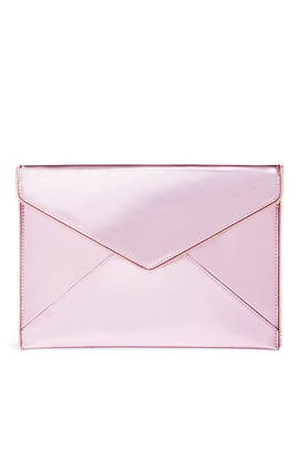 Pink Metallic Leo Clutch by Rebecca Minkoff Accessories