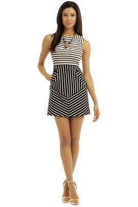 Derek Lam 10 Crosby Striped A-Line Dress Women/'s