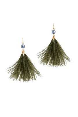 Feather Tassel Earrings by Tory Burch Accessories