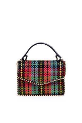 Lulu Tartan Woven Bag by Les Petits Joueurs