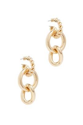 Gold Louisa Earrings by Dannijo
