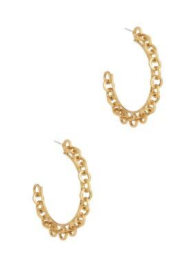 Golden Andrea Earrings by Elizabeth Cole