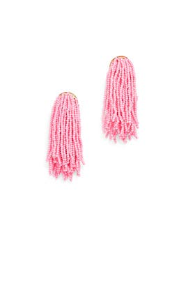Pink Waterfall Earrings by Kenneth Jay Lane