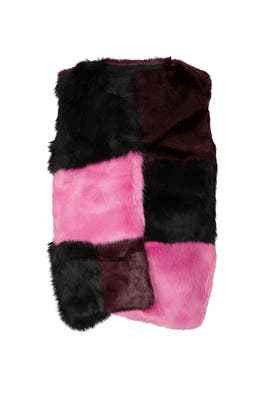 Kids Colorblock Faux Fur Vest by Marni Kids