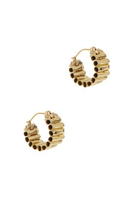Gold Pawn Vessel Hoops by ELLERY Accessories