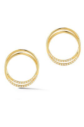 Gold Elson Earrings by Elizabeth and James Accessories
