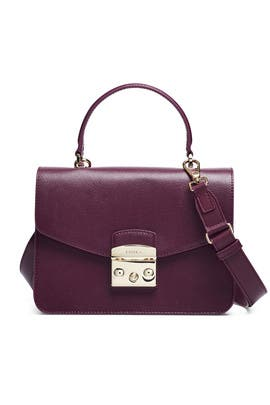 Amaranto Metropolis Small Top Handle Bag by Furla for $60 | Rent the Runway