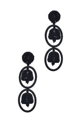 Black Victoria Earrings by Sachin & Babi Accessories