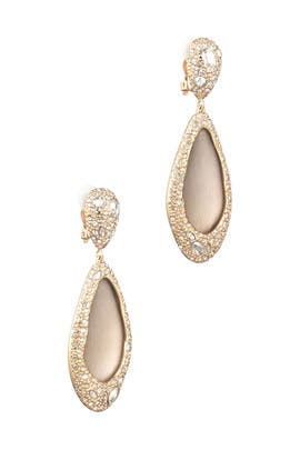 Crystal Encrusted Tear Drop Earrings by Alexis Bittar