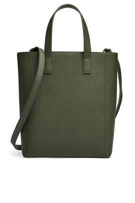 Khaki Green Shopper Tote by Tome x TDE