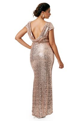 36f17e99e3 Shimmering Blush Gown by Badgley Mischka for  90