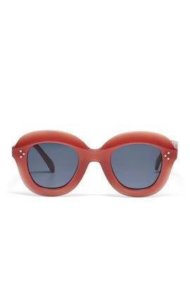 Pink Lola Round Sunglasses by Céline