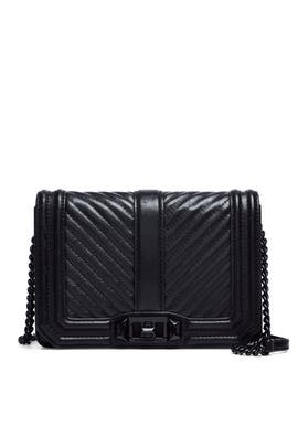 Black Chevron Love Crossbody by Rebecca Minkoff Accessories