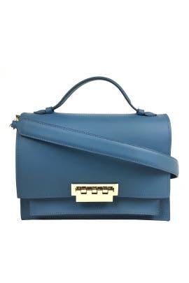 Denim Blue Earthette Bag by ZAC Zac Posen Handbags