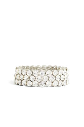 Three Row Crystal Stretch Bracelet by Slate & Willow Accessories