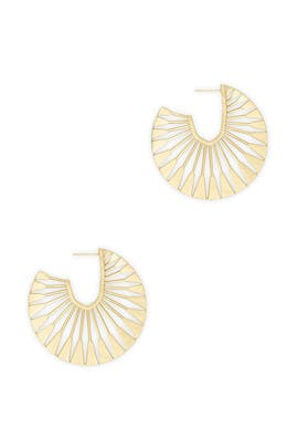 Gold Deanne Hoops by Kendra Scott